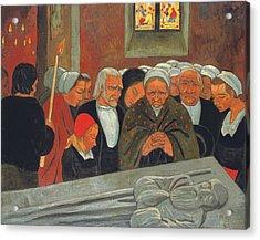 Prayer To Saint Herbot Acrylic Print by Paul Serusier