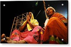 Prayers Acrylic Print by Money Sharma
