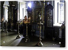 Praying At The Convent - Moscow - Russia Acrylic Print by Madeline Ellis