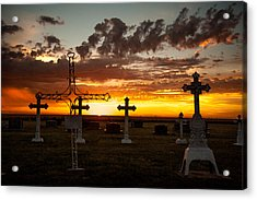 Acrylic Print featuring the photograph Bearing Our Crosses by Shirley Heier