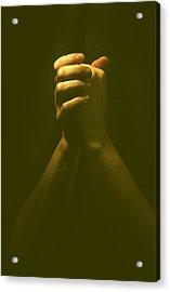 Praying Hands Acrylic Print by Bob Pardue