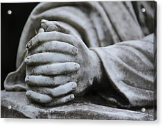 Praying Hands Acrylic Print by Rowana Ray