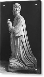 Praying Kneeling Figure Of Duc Jean De Berry 1340-1416 Count Of Poitiers Acrylic Print by French School