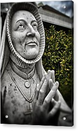 Praying Nun Statue Acrylic Print