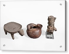 Pre Columbian Zoomorphic Acrylic Print by Science Photo Library