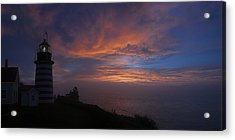 Pre Dawn Lighthouse Sentinal Acrylic Print by Marty Saccone