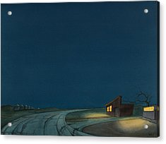 Acrylic Print featuring the painting Pre-dawn On The Hi-line I by Scott Kirby