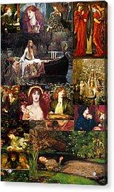 Pre Raphaelite Collage Acrylic Print by Philip Ralley