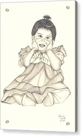 Acrylic Print featuring the drawing Precious by Patricia Hiltz