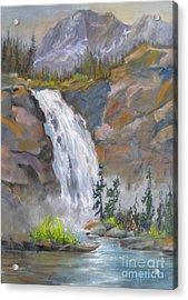 Precipitous Falls Acrylic Print by Mohamed Hirji