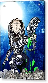 Predator Vs Alien To Be Or Not To Be Acrylic Print