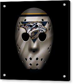 Predators Jersey Mask Acrylic Print
