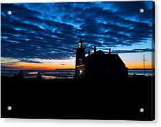 Predawn Light At West Quoddy Head Lighthouse Acrylic Print