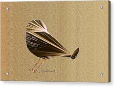 Preening Bird Acrylic Print by Asok Mukhopadhyay