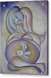 Pregnancy Oil Painting In The Belly Original By Gioia Albano Acrylic Print