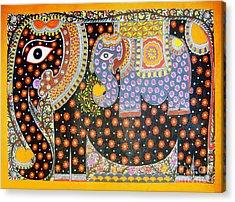 Pregnant Elephant Acrylic Print
