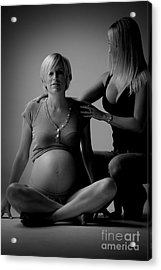 Pregnant With Helper Acrylic Print