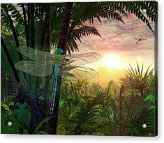 Prehistoric Dragonfly Acrylic Print