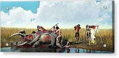 Prehistoric Hunting Acrylic Print