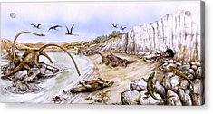 Prehistoric Landscape Acrylic Print