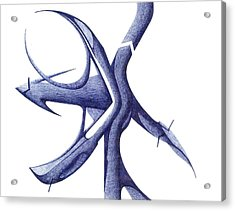Acrylic Print featuring the drawing Prehistoric Sign by Giuseppe Epifani