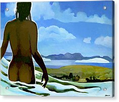 Premonition - Bream Bay Goddess Acrylic Print by Patricia Howitt