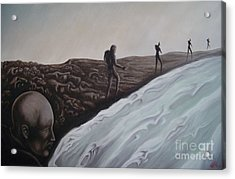 Acrylic Print featuring the painting Premonition by Michael  TMAD Finney