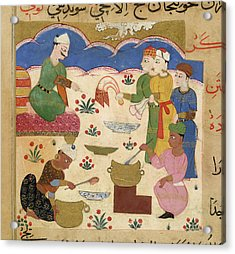 Preparation Of Halwa Acrylic Print by British Library