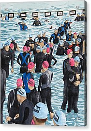 Preparing For The Swim Acrylic Print by Tanya Petruk