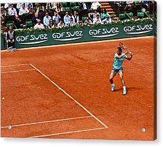 Rafael Nadal Preparing The Shot Acrylic Print