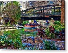 Acrylic Print featuring the photograph Presa Street Bridge Over Riverwalk by Ricardo J Ruiz de Porras