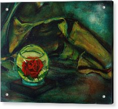 Preserved Rose . . Draped Canvas Acrylic Print by Sean Connolly