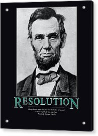 President Abraham Lincoln Resolution  Acrylic Print by Retro Images Archive