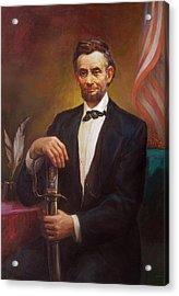 President Abraham Lincoln Acrylic Print by Svitozar Nenyuk
