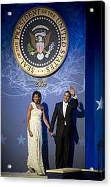 President And Michelle Obama Acrylic Print by had J McNeeley