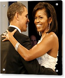President And Michelle Obama Acrylic Print by Official Government Photograph
