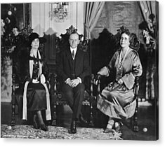 President And Mrs. Coolidge Acrylic Print by Underwood Archives