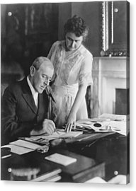 President And Mrs. Woodrow Wilson Acrylic Print by Underwood Archives
