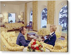 President And Pat Nixon Sitting Acrylic Print by Everett