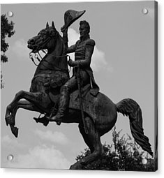 Acrylic Print featuring the photograph President Andrew Jackson Statue by Robert Hebert