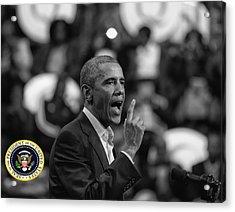 President Barack Obama Acrylic Print by Jerome Lynch