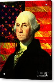 President George Washington V2 M20 Acrylic Print by Wingsdomain Art and Photography