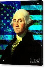 President George Washington V2 P138 Acrylic Print by Wingsdomain Art and Photography