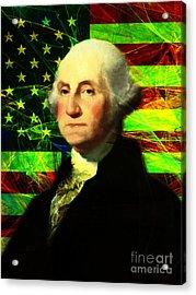 President George Washington V2 P50 Acrylic Print by Wingsdomain Art and Photography