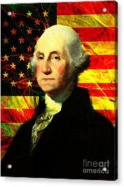 President George Washington V2 Acrylic Print by Wingsdomain Art and Photography