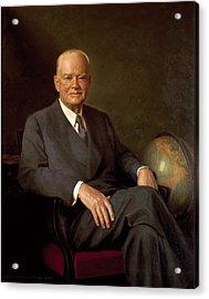 President Herbert Hoover By Elmer Wesley Greene Acrylic Print by Movie Poster Prints
