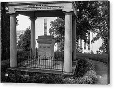 Acrylic Print featuring the photograph President James K Polk Tomb by Robert Hebert