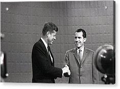 President John Kennedy And President Richard Nixon In The 1960 Debate Acrylic Print