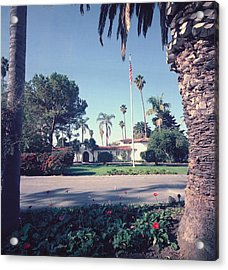 President Nixons Home In San Clemente Acrylic Print by Everett