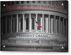 President Obama Inauguration Acrylic Print by Jost Houk